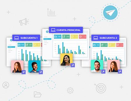 Gestiona el email marketing de tu empresa con Acrelia multicuenta.