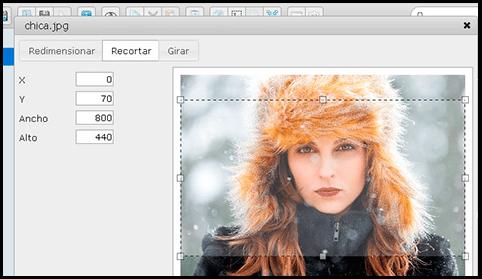 Editor de imágenes integrado