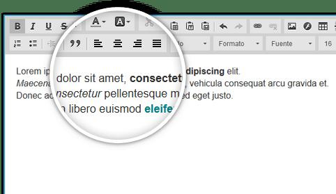 Editor avanzado de html