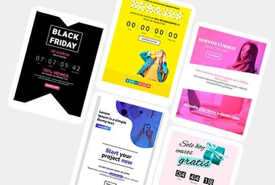 Galeria de plantilles d'email màrqueting gratuïtes