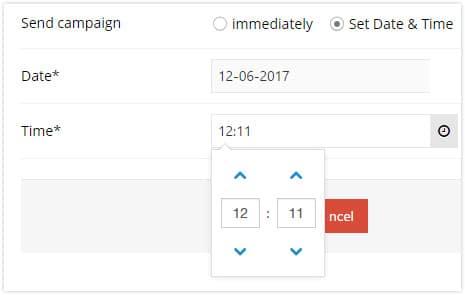 Schedule your sendings