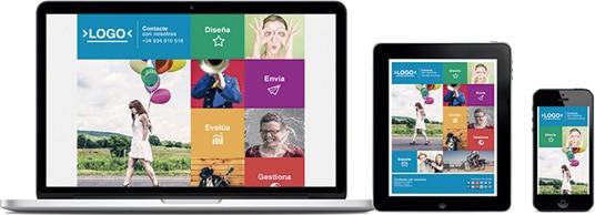 Diseño adaptado a lectores de correo, móviles y tablets