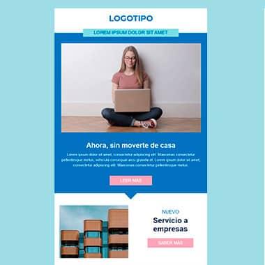 Plantilla de email responsive: Presentacion de servicios