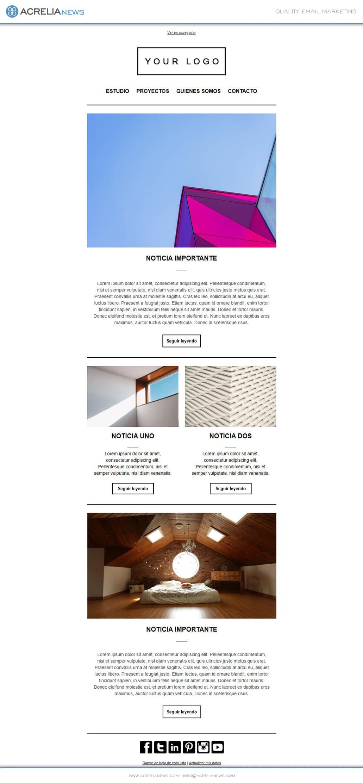 Plantilla de email responsive: Architecture