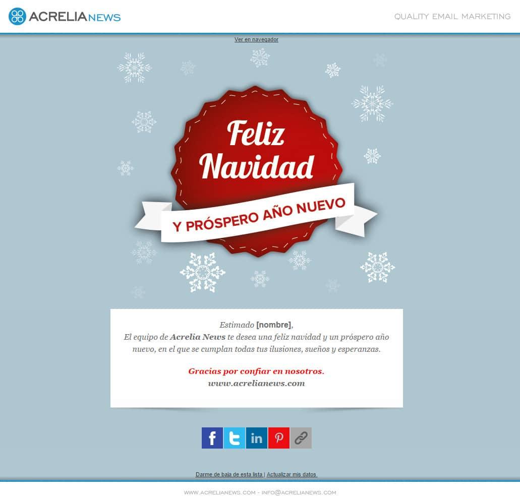 Plantilla de email responsive: Christmas label