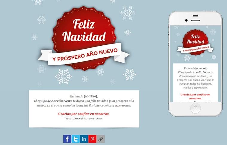 Plantilla de mailing - Christmas label