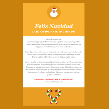 Email template postcard: Merry Christmas Santa Claus