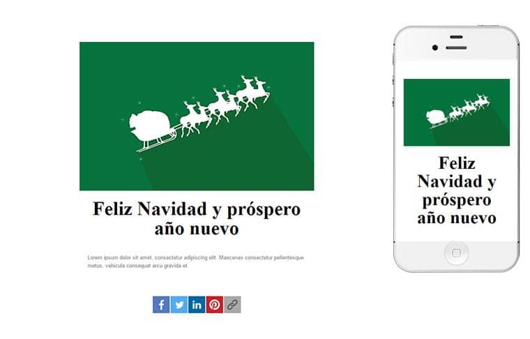 Plantilla de postal de Nadal - Christmas's sleigh