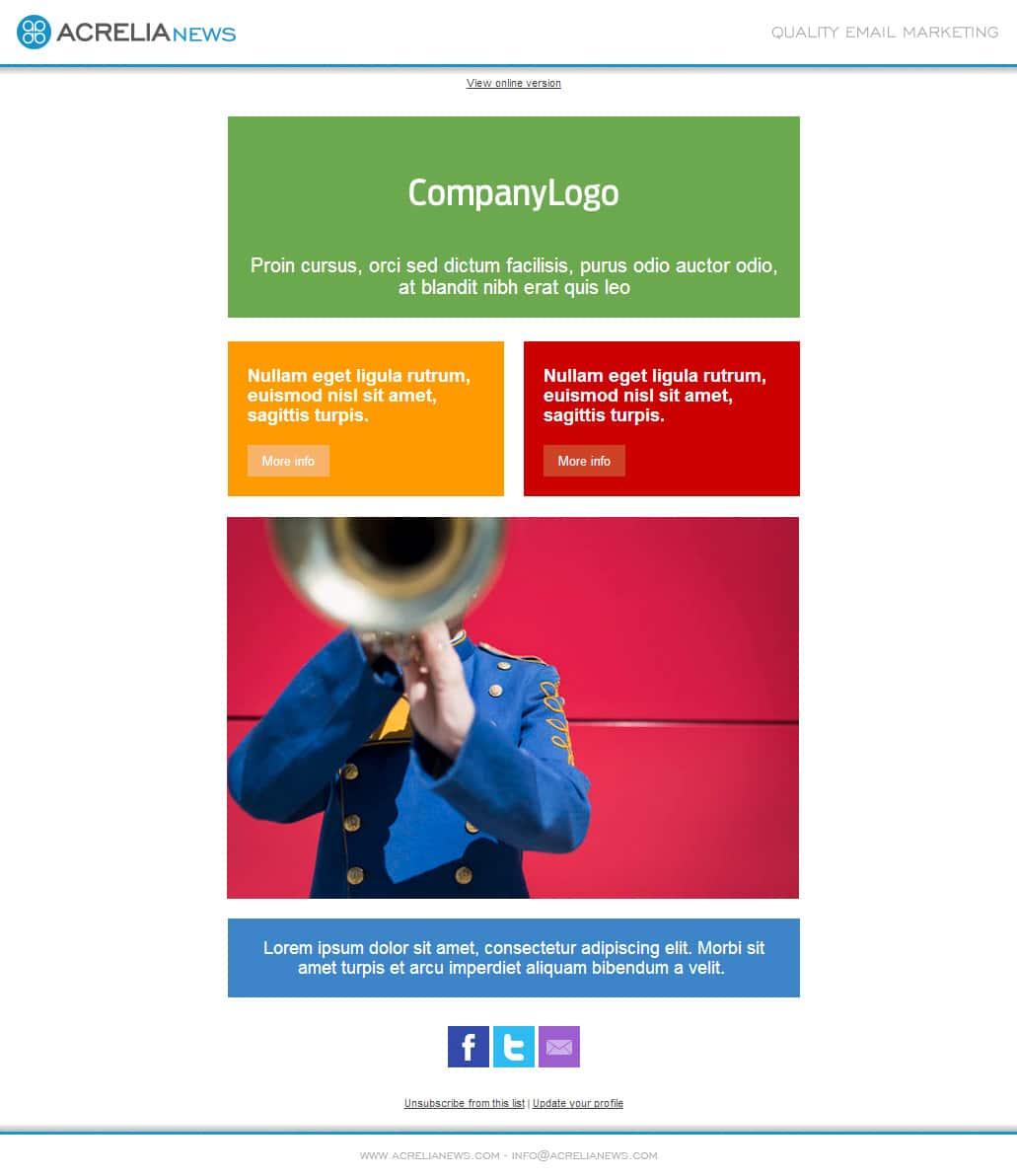 Plantilla de email responsive: Colors