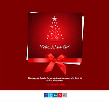 Plantilla de email responsive: Feliz Navidad