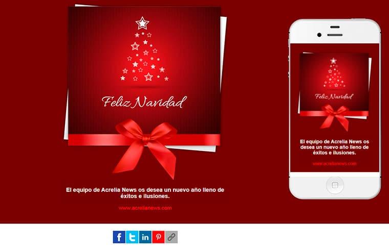 Plantilla de mailing - Feliz Navidad