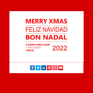 Christmas postcard template email: Happy New Year