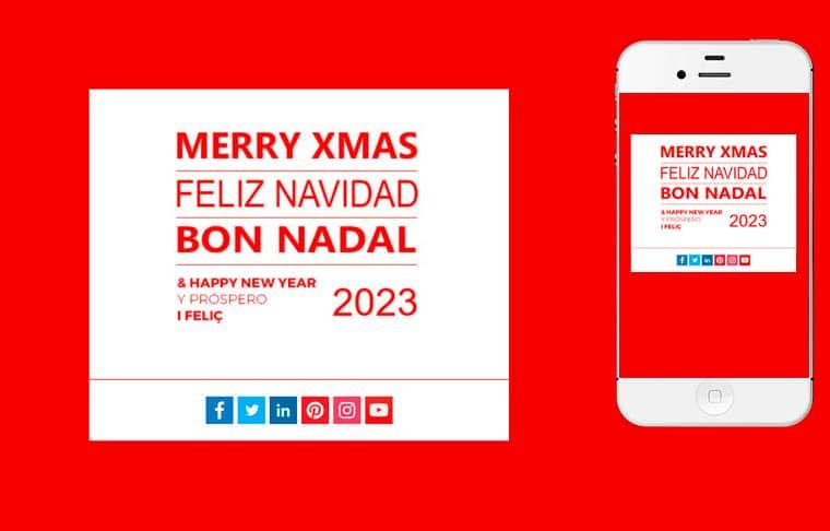 Plantilla de postal de Nadal - Happy year