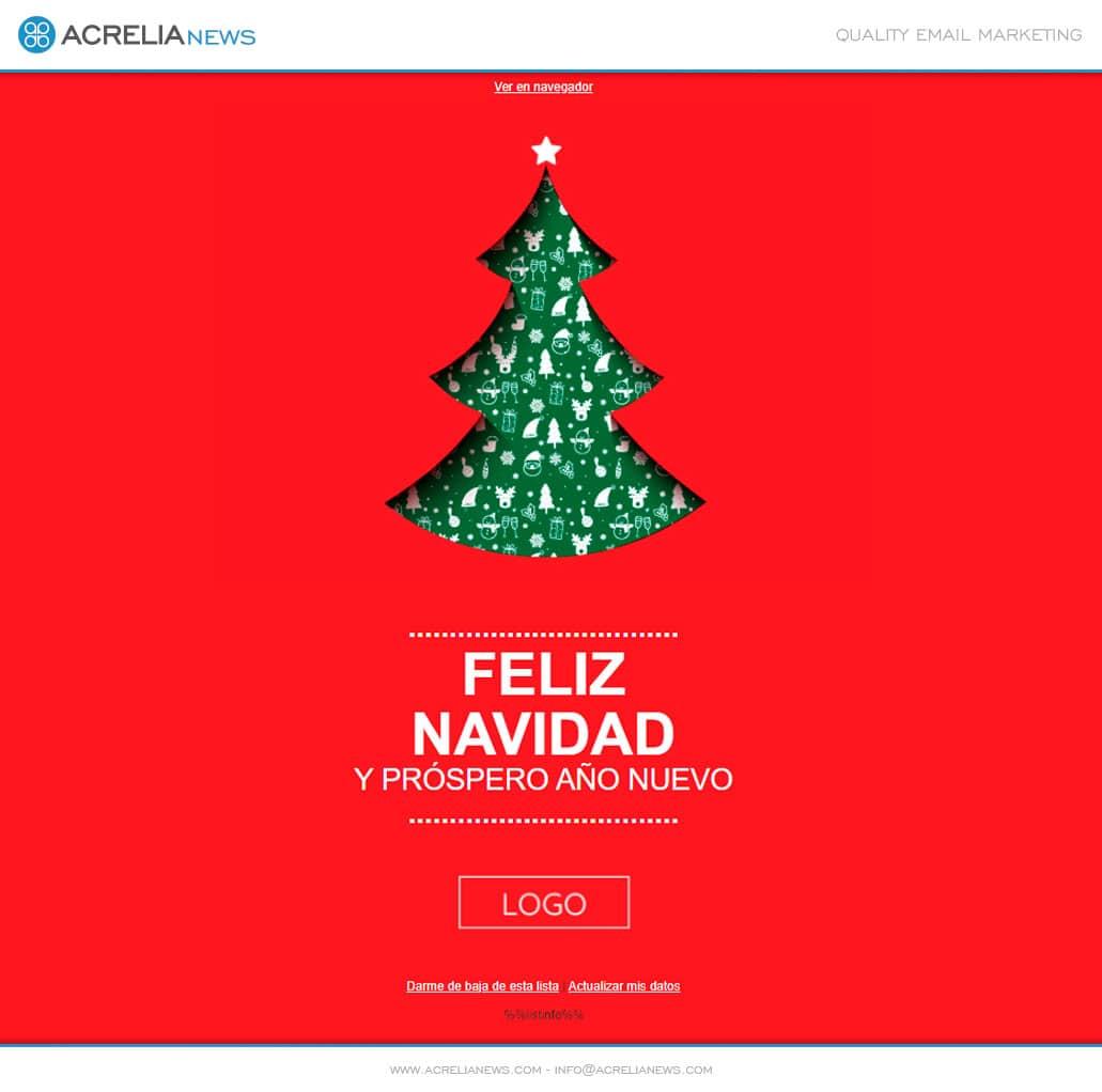 Plantilla Happy Christmas Tree