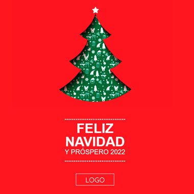 Email template Christmas: Happy Christmas Tree