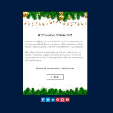 Email template Christmas: Blue Christmas