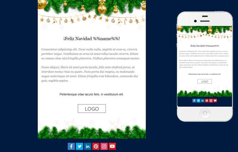 Plantilla de postal de Nadal - Blue Christmas