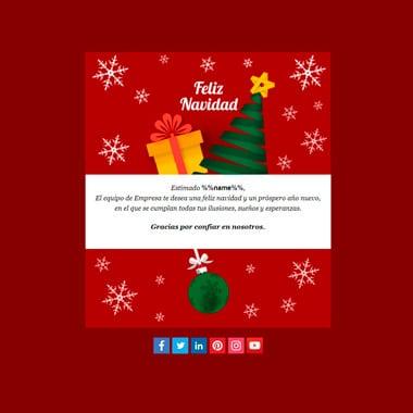 Email template Christmas: Christmas Night