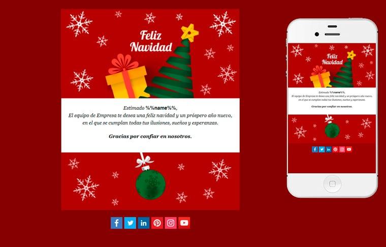 Plantilla de postal de Nadal - Christmas Night