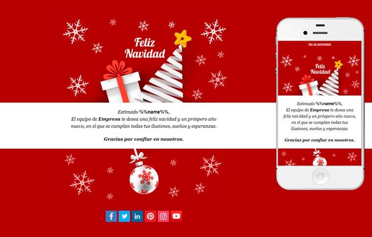 Plantilla de postal de Nadal - White Christmas Night