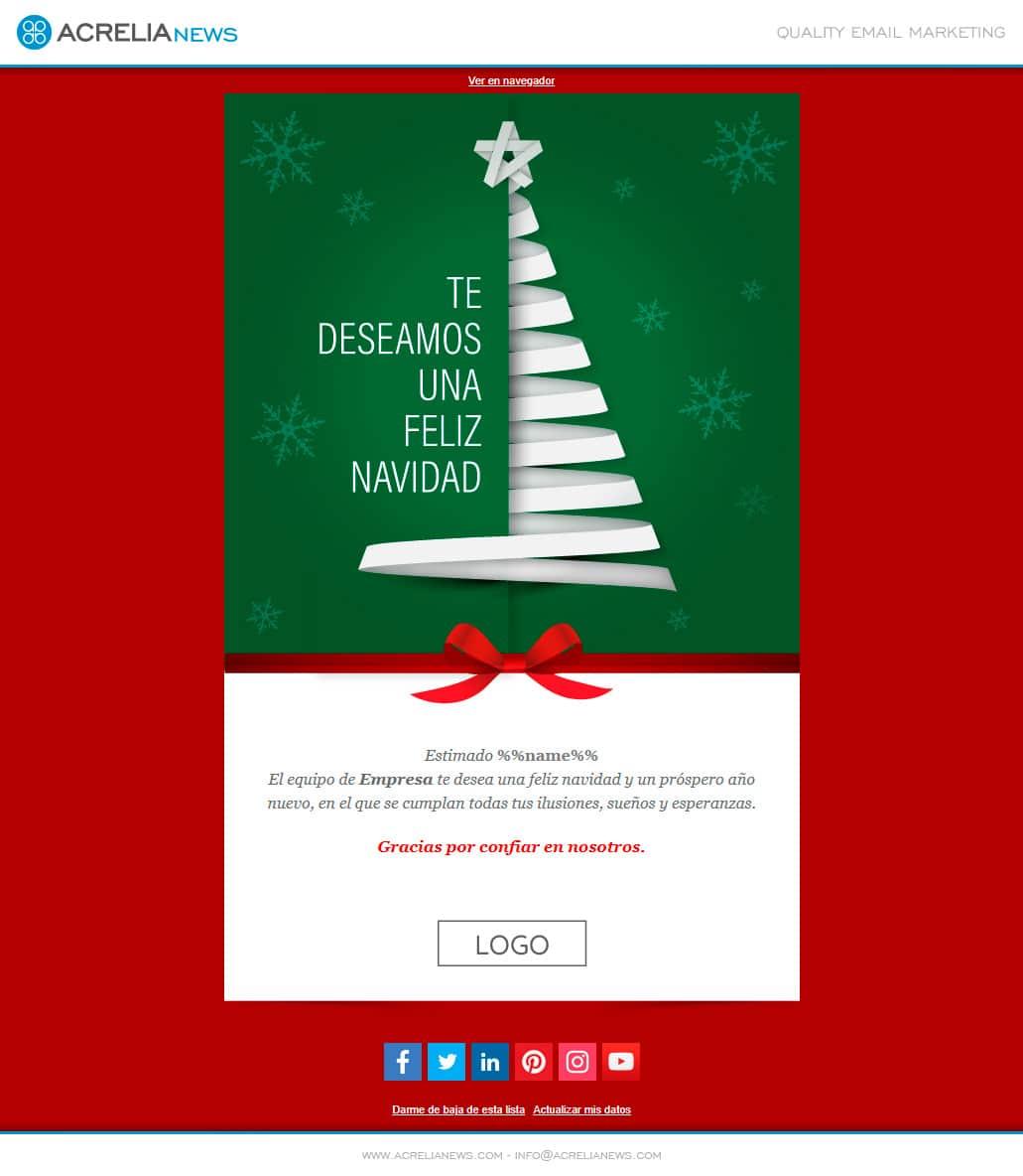 Plantilla Christmas Paper Tree