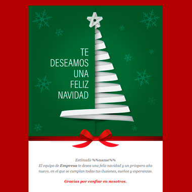 Email template Christmas: Christmas Paper Tree