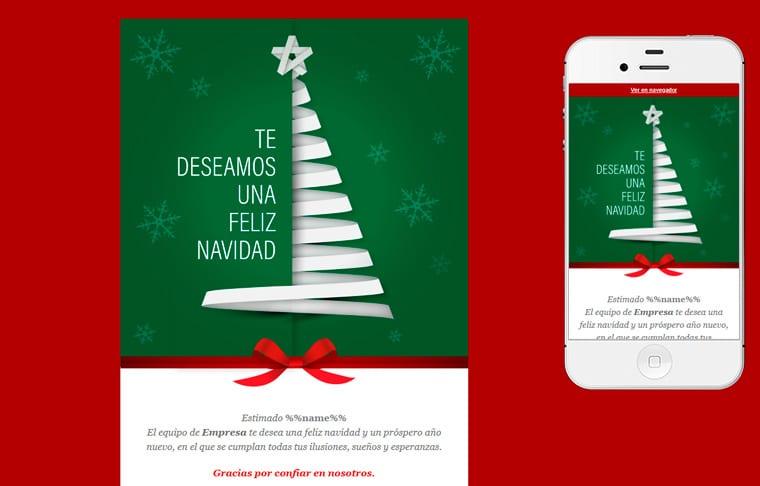 Plantilla de postal de Nadal - Christmas Paper Tree