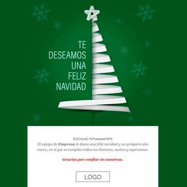 Email template Christmas: Green Christmas Tree