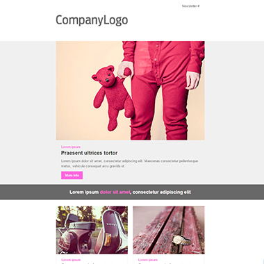 Plantilla de email responsive: Pink Obsession