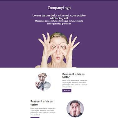 Plantilla de email responsive: Purple box