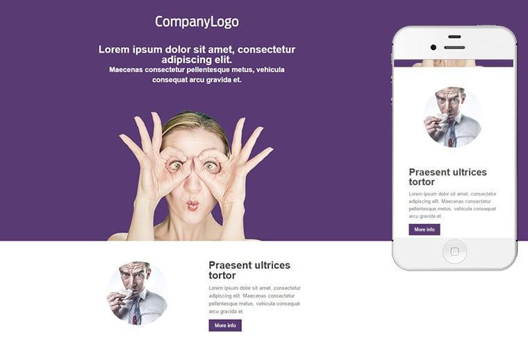Plantilla de mailing - Purple box