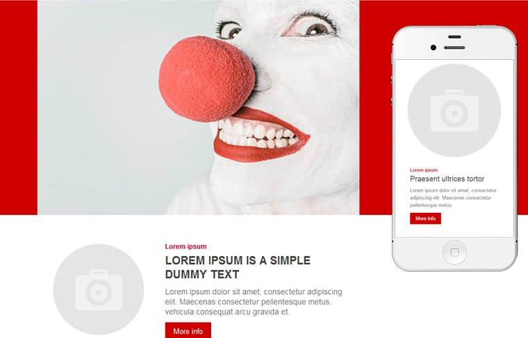 Plantilla de mailing - Spots red