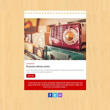 Plantilla de email responsive: Wood red