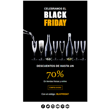 Plantilla de email responsive: Black Friday 3