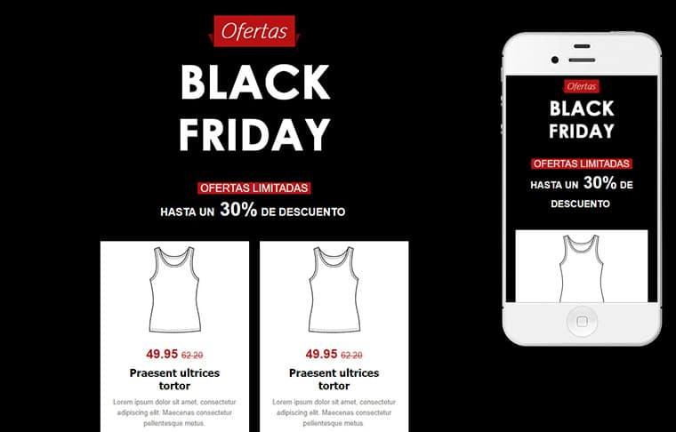 Plantilla de mailing - Black Friday