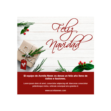 Christmas email template postcard: Red Corporate