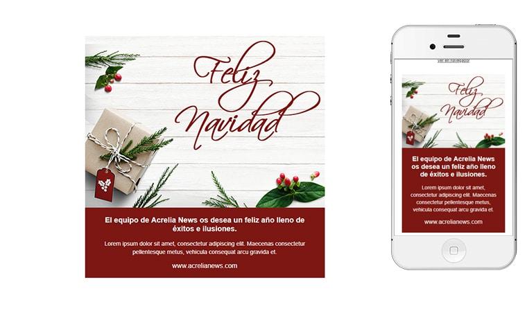 Plantilla de postal de Nadal - Christmas Card