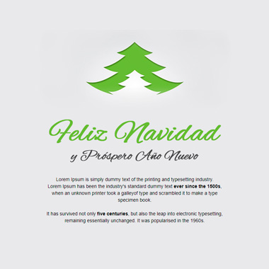 Email template postcard: Merry Christmas green