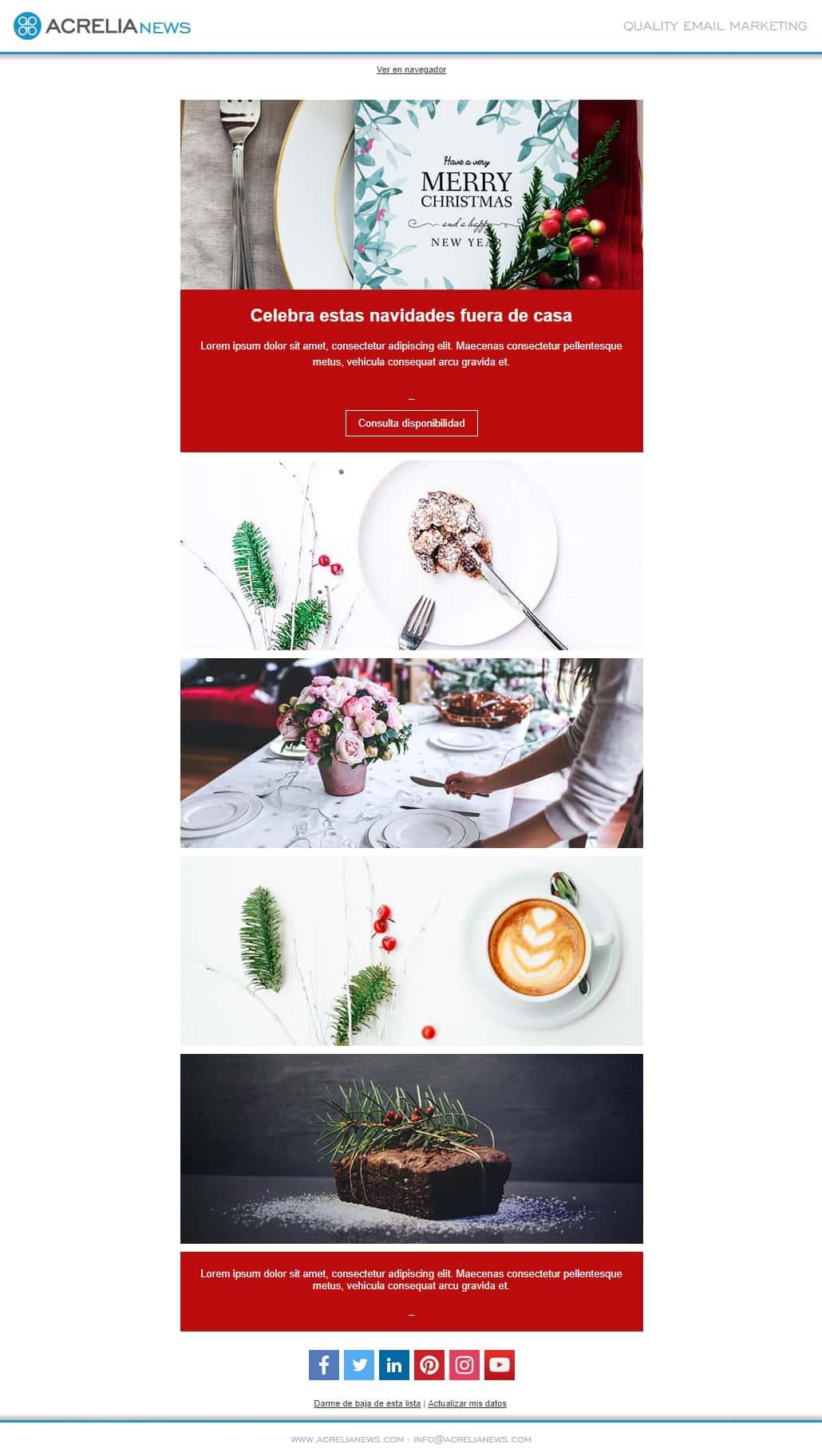 Plantilla de email responsive: Christmas Menu