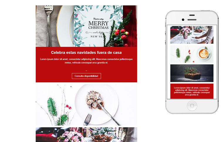 Plantilla de mailing - Christmas Menu