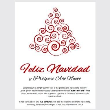 Christmas postcard template email: Corporate Elegant