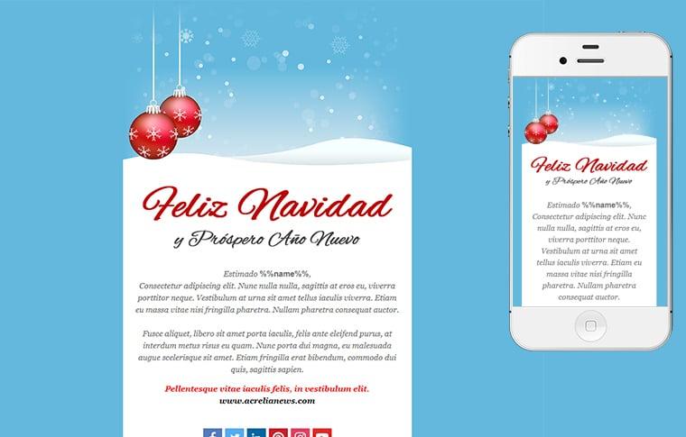 Plantilla de postal de Nadal - Christmas Blue
