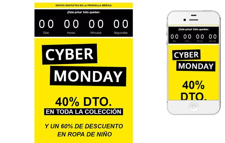 Plantilla de mailing - Cyber Monday