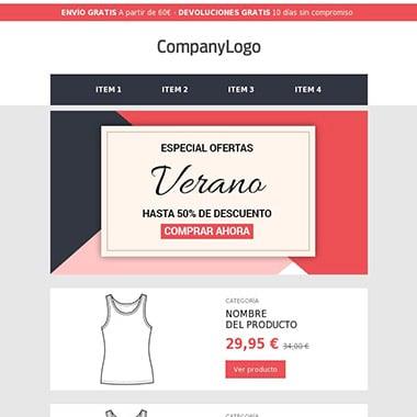 Plantilla de email responsive: Ecommerce