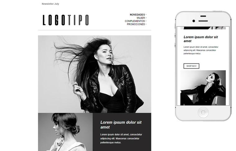 Plantilla de mailing - Fashion Ecommerce