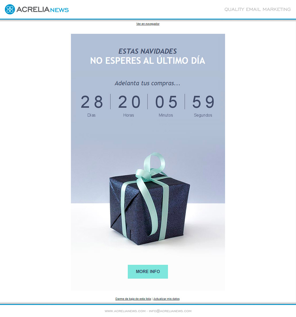 Plantilla de email responsive: Free Gift
