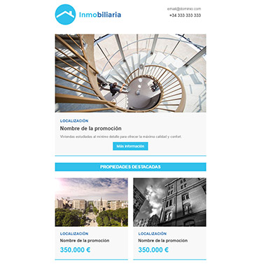Plantilla de email responsive: Inmobiliaria