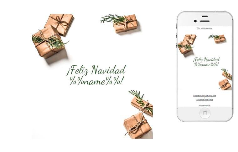 Plantilla de postal de Nadal - Postal de Navidad personalizada