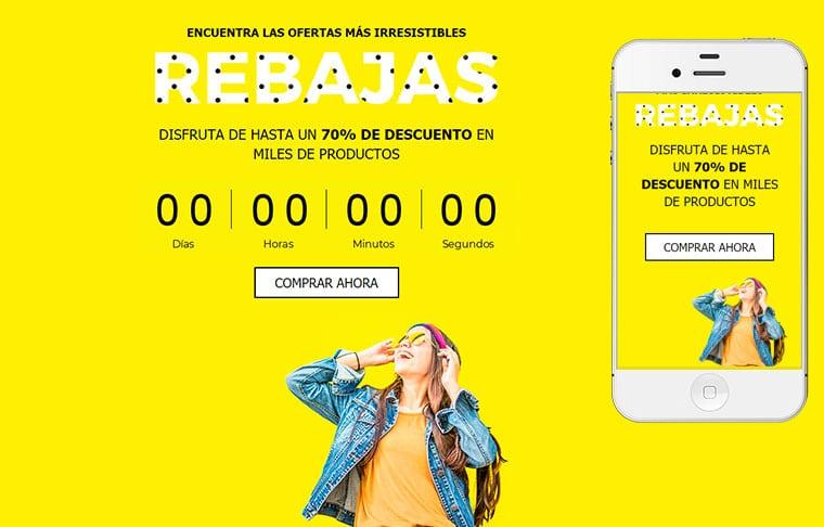 Plantilla de mailing - Rebajas