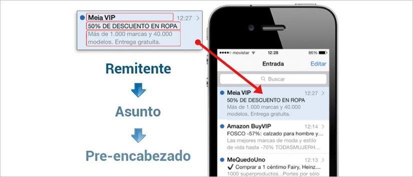 Imagen ¿Utilizas el  preencabezado en tus envíos de email market